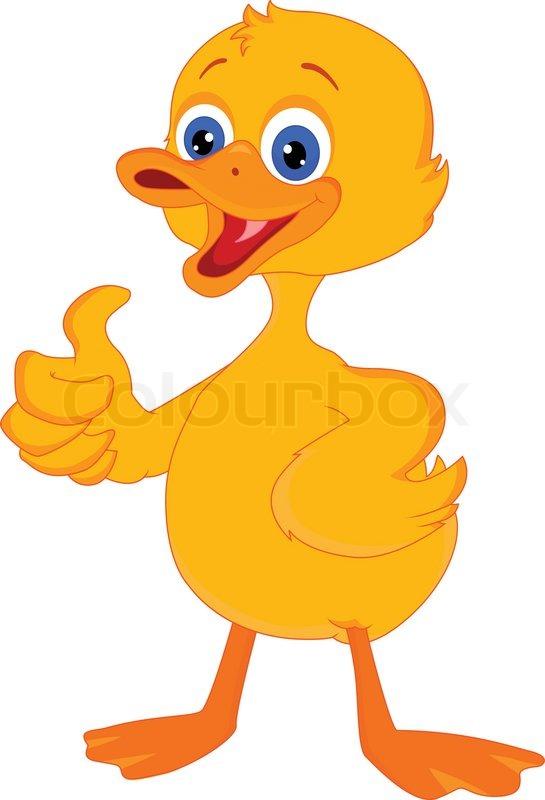 cute little duck cartoon stock vector colourbox rh colourbox com cute cartoon duck images cute cartoon duck pictures