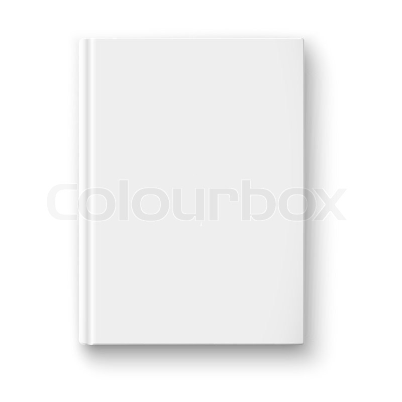 Blank book cover template on white background with soft shadows blank book cover template on white background with soft shadows vector illustration stock vector colourbox pronofoot35fo Images