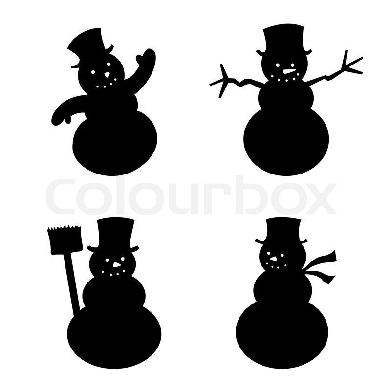 Snowman silhouette | Stock Vector | Colourbox