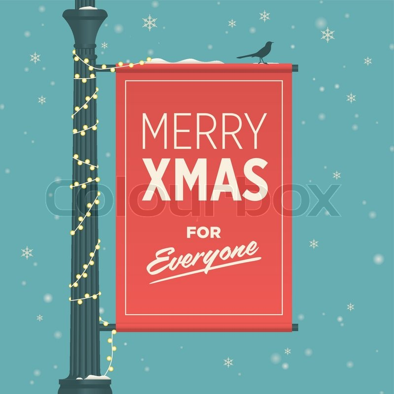 merry christmas card retro vintage stock vector colourbox. Black Bedroom Furniture Sets. Home Design Ideas