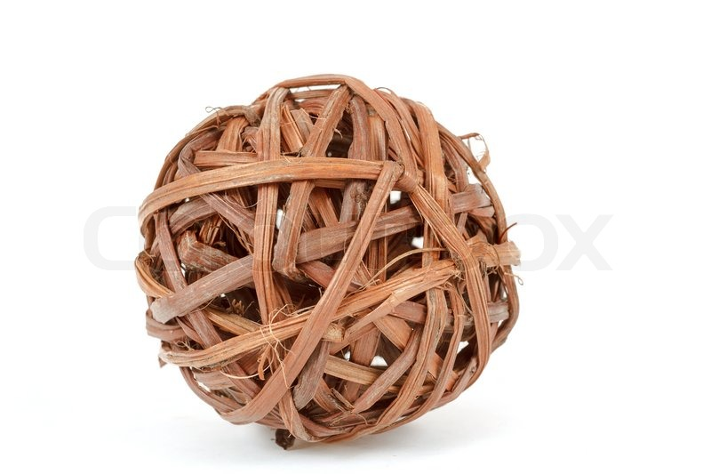 Wooden Decorative Balls Interesting A Decorative Wicker Wooden Balls  Stock Photo  Colourbox Review
