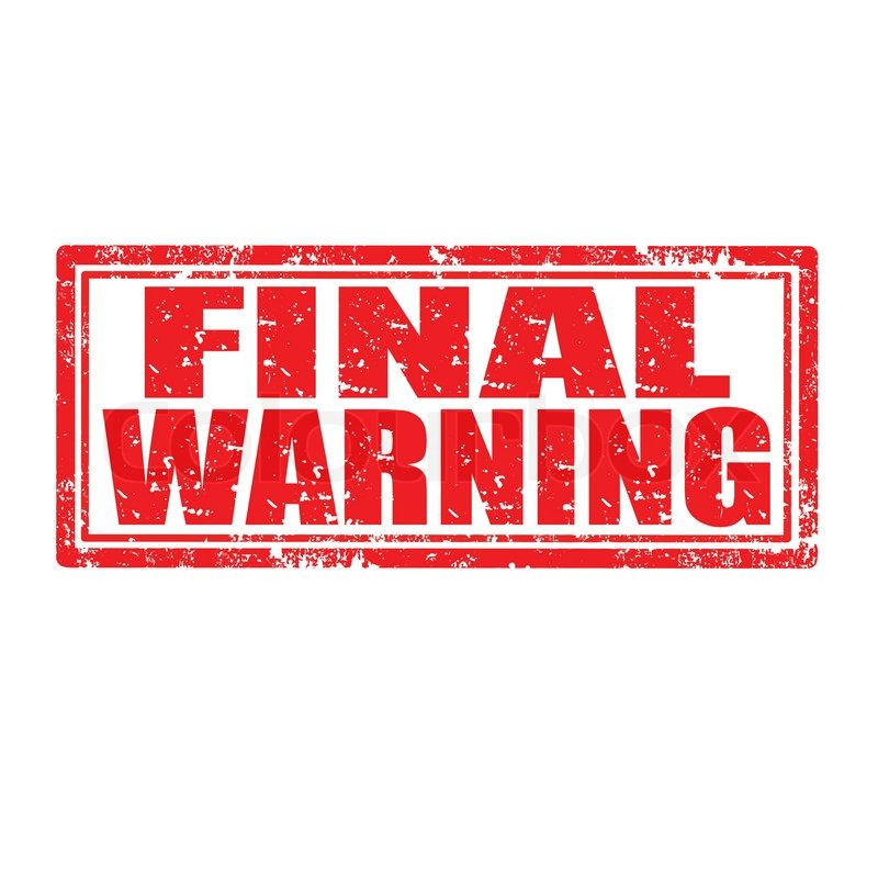 final warning stamp stock vector colourbox