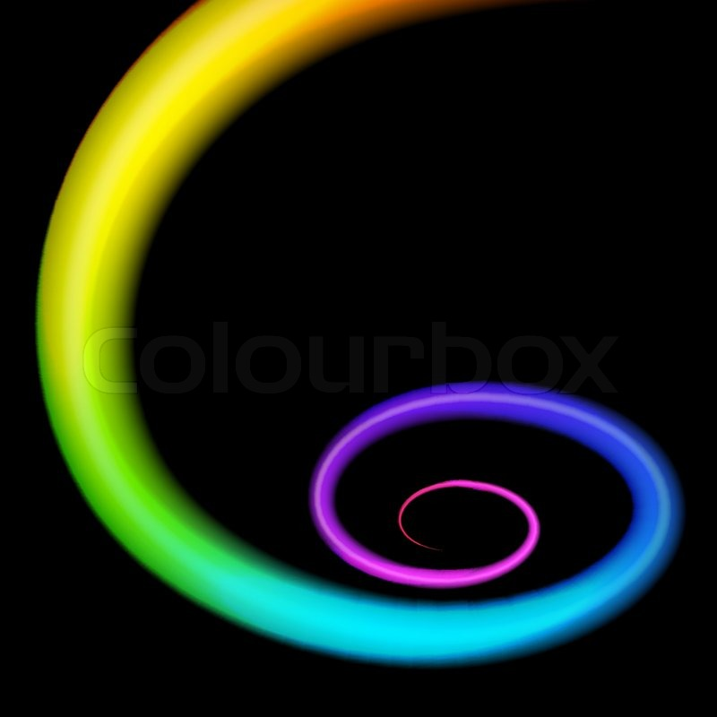 Rainbow 3d Swirl Realistic Vector Stock Vector