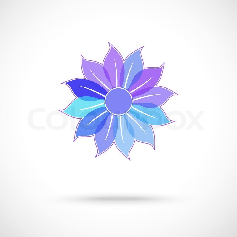 Vector Colorful Flower Symbol Stock Vector Colourbox