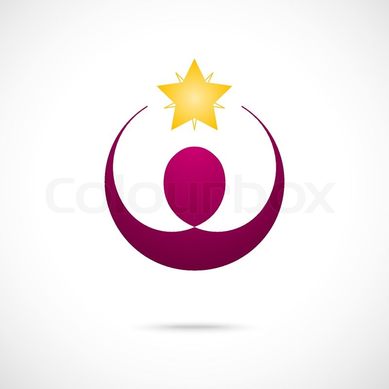 corporate success winner logo template business concept human