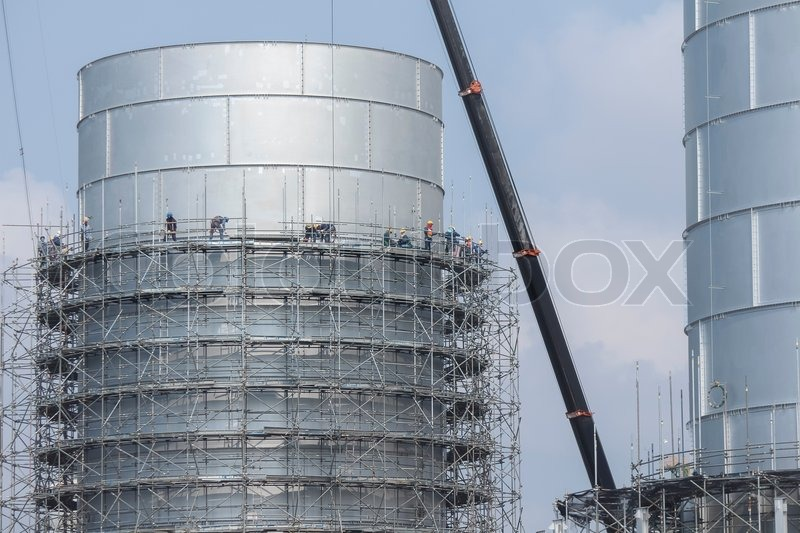 Scaffolding Structure Of Tank Storage In Industrial Factory | Stock Photo |  Colourbox