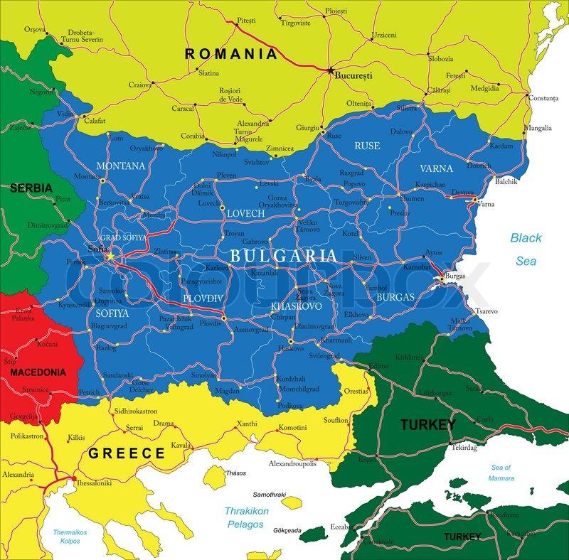 Karte Bulgarien.Bulgarien Karte Stock Vektor Colourbox