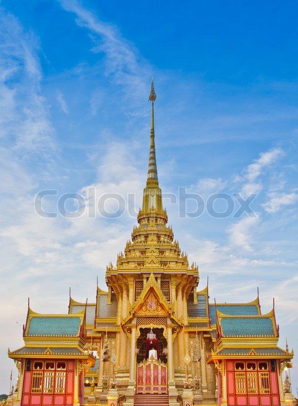 Thai royal funeral, stock photo