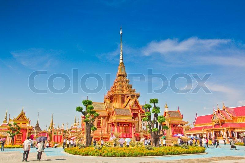 Thai royal funeral in bangkok thailand, stock photo
