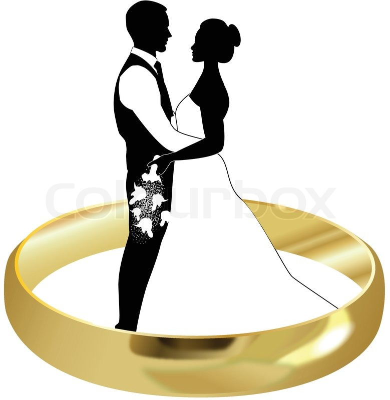 ring bride and groom stock vector colourbox rh colourbox com bride and groom vector free download bride and groom vector art