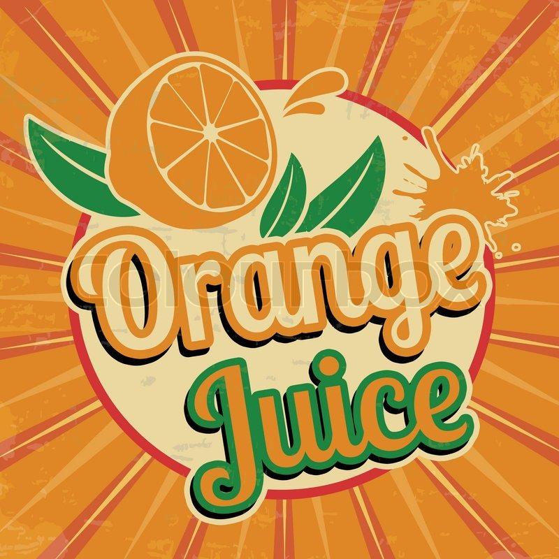 Orange juice vintage poster | Stock vector | Colourbox