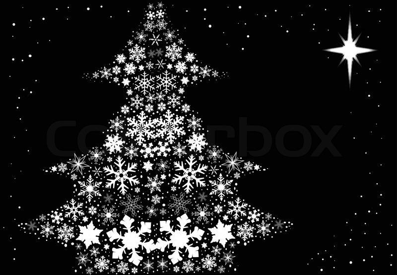 Snowflake Christmas Tree | Stock Vector | Colourbox