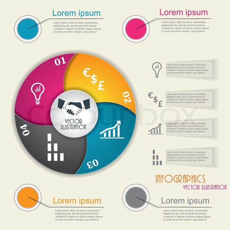 moderne infographik vorlage design fr ihre firmenprsentation vektorgrafik colourbox - Firmenprasentation Muster