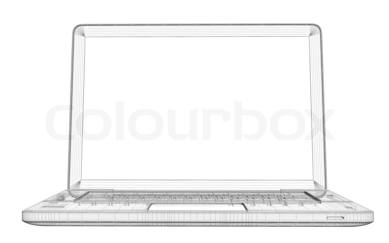 Laptop. Wire frame | Stock Photo | Colourbox