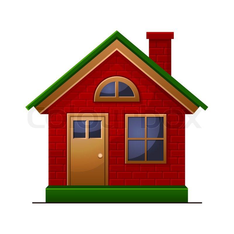 haus symbol auf wei em hintergrund vektorgrafik colourbox. Black Bedroom Furniture Sets. Home Design Ideas
