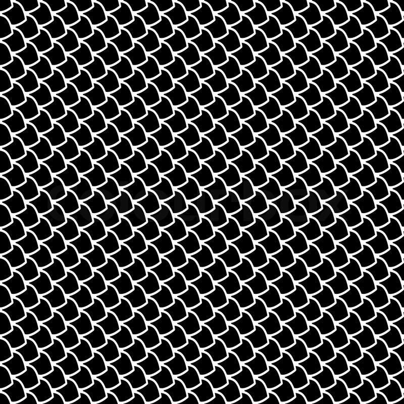 Seamless fish scales texture | Stock Vector | Colourbox