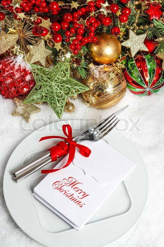 Festive Table Setting Decoration Dinner Invitation Concept