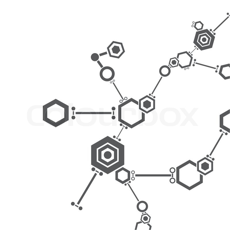 molecular structure abstract technology and business icon stock