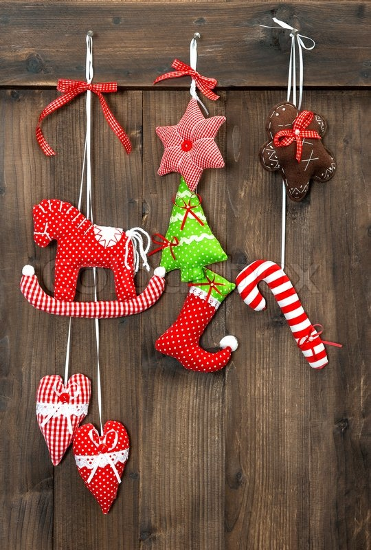 Wooden Toy Christmas Tree Decorations