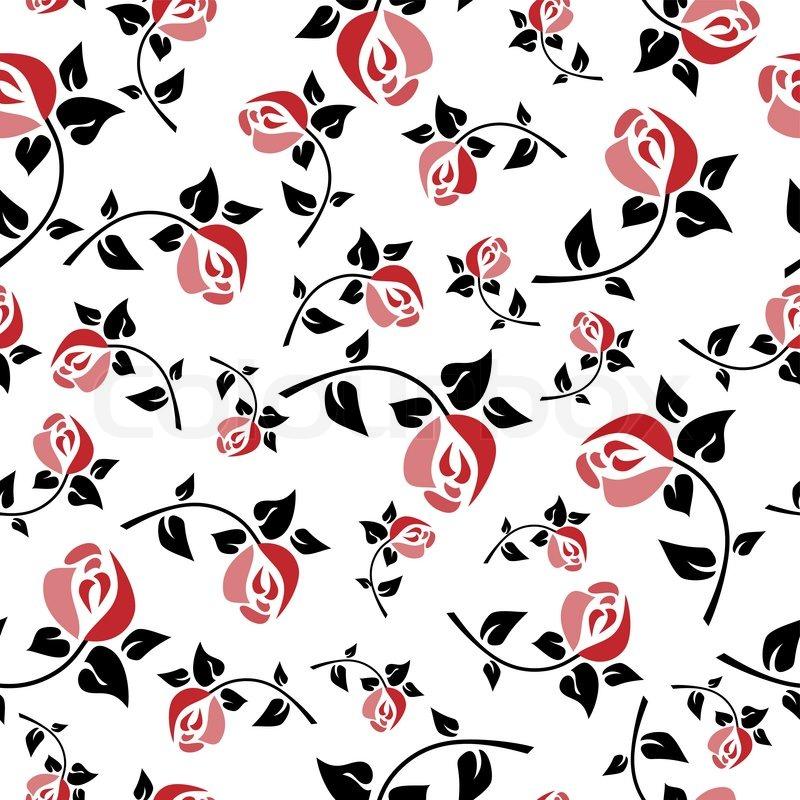 seamless floral pattern art deco stock vector colourbox. Black Bedroom Furniture Sets. Home Design Ideas