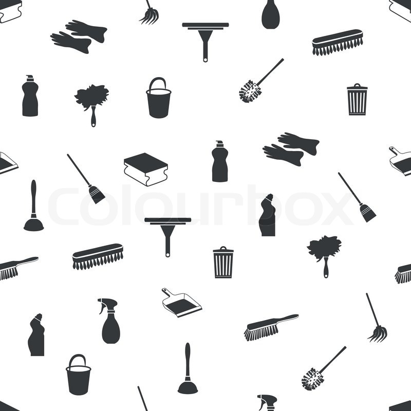 Nahtlose Reinigung Icons | Vektorgrafik | Colourbox