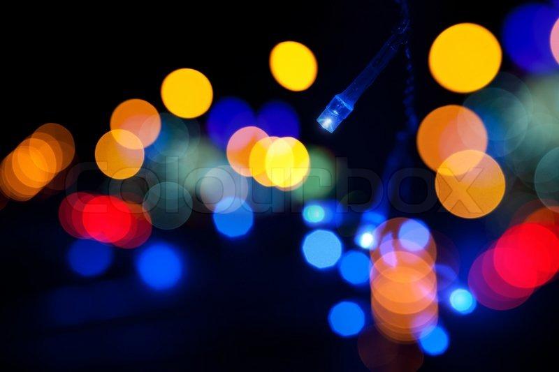 bunte ledlicht emittierende dioden lichtergirlande mit