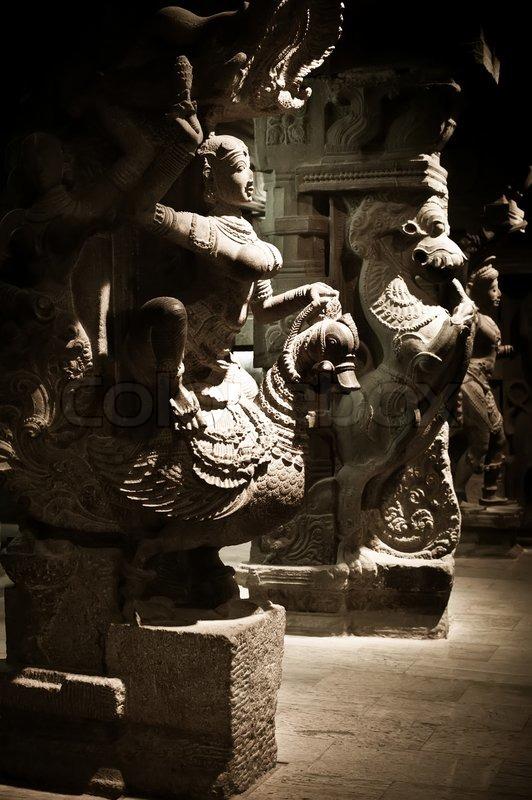 Statue Of Indian God Ganesha At Hindu Temple South India Tamil Nadu Madurai Stock Photo
