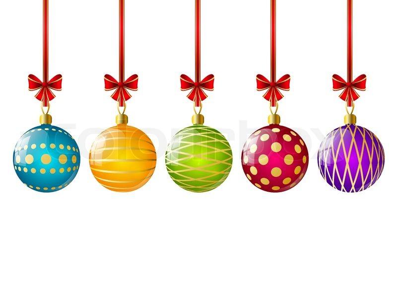 Farbe weihnachtskugeln mit b ndern vektorgrafik colourbox for Weihnachtskugeln bilder
