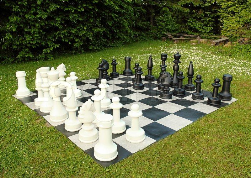 Ultramoderne Big udendørs skak i grøn plæne | Stock foto | Colourbox TD-29