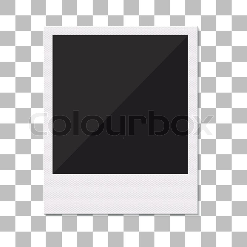 Blank Retro Polaroid Photo Frame Vector Illustration Empty Photo