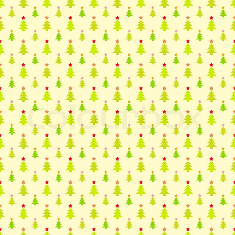 Abstract Christmas Tree Pattern Wallpaper Vector Illustration For Classy Christmas Pattern Wallpaper