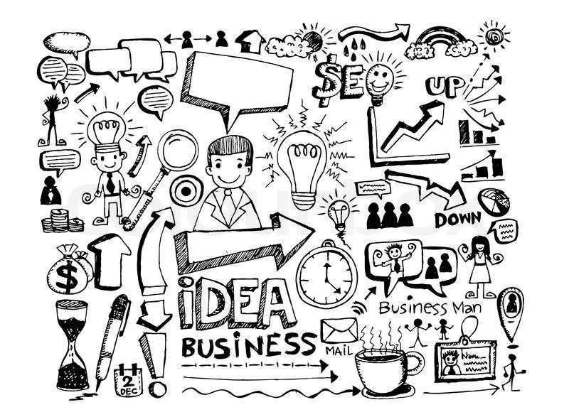 Hand doodle Business doodles | Stock Vector | Colourbox