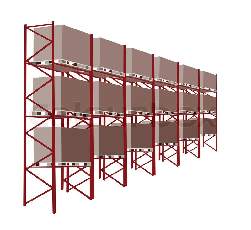Shelves Manufacturing Storage in A Warehouse With Goods ...