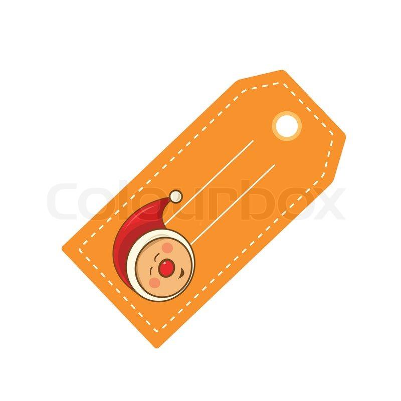 Nisse Pa Til Og Fra Kort I Orange Stock Vektor Colourbox