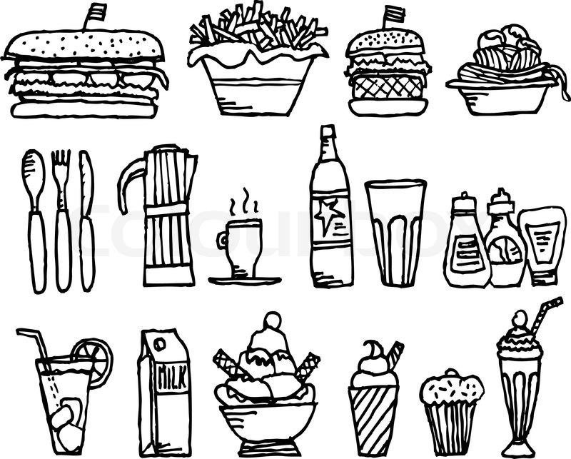 Food and drinks / Restaurant stuff, vector