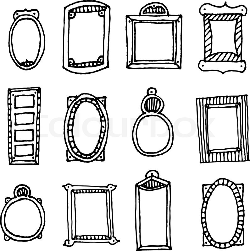 Hand drawn vector frame set | Stock Vector | Colourbox