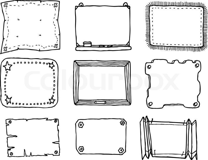 Hand Drawn Vector Frame Set | Stock Vector | Colourbox