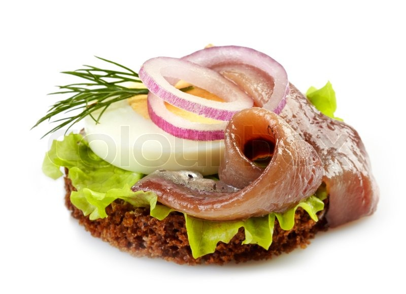 Canape with anchovy and egg stock photo colourbox for Canape suppliers