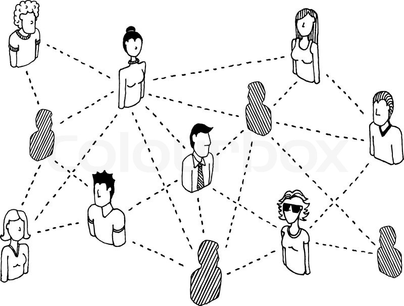 social network connecting    people relations