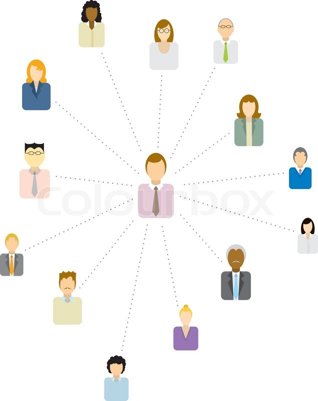 ... / Social and business network or People icon | Vector | Colourbox
