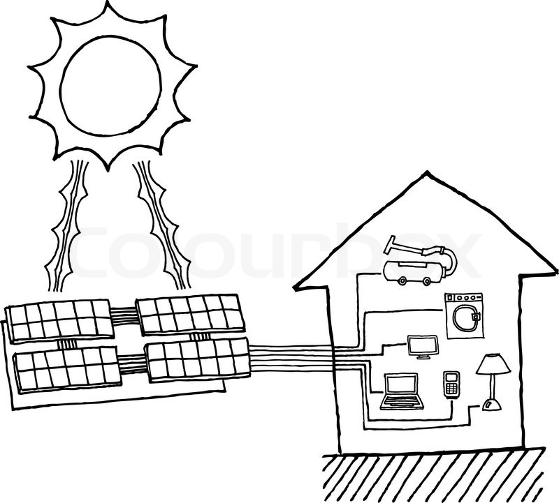 Solar Power Graphic Cheap Energy Stock Vector