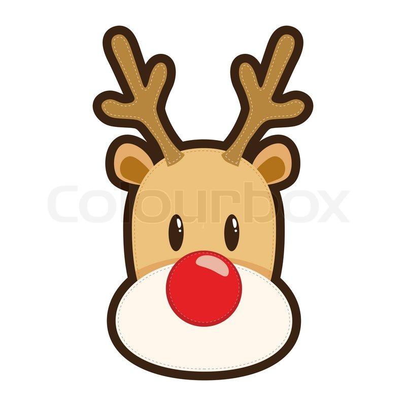 Cartoon Reindeer Mailman with Letters stock photo