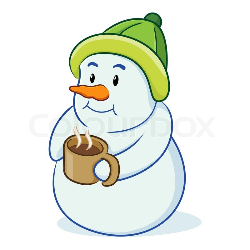 snowman drinking coffee stock vector colourbox scarf clipart bw scarf clipart png