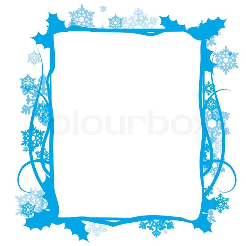 Winter floral frame, vector | Stock Vector | Colourbox