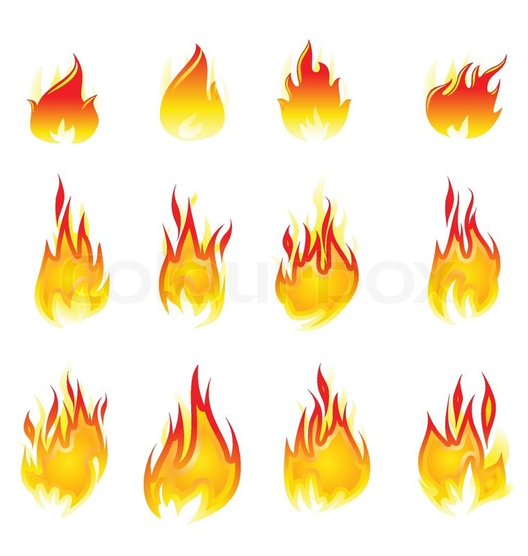 Abstract Fire Illustration Stock Vector Colourbox