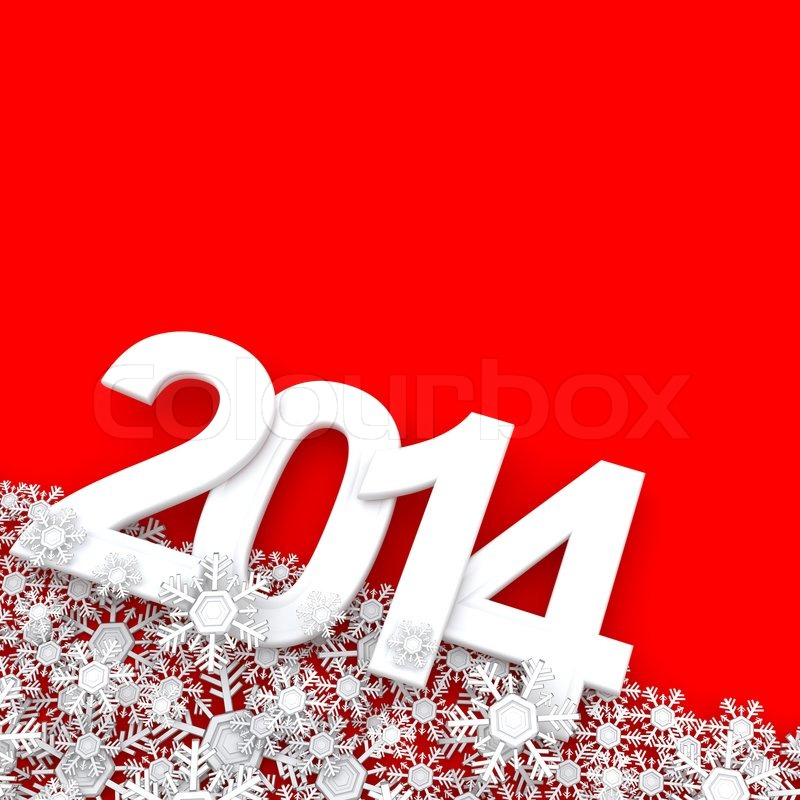 Stock image of 'Happy New Year 2014. 3d'