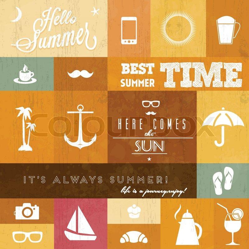 Vector Sommer Icons Whith Vektorgrafik Colourbox