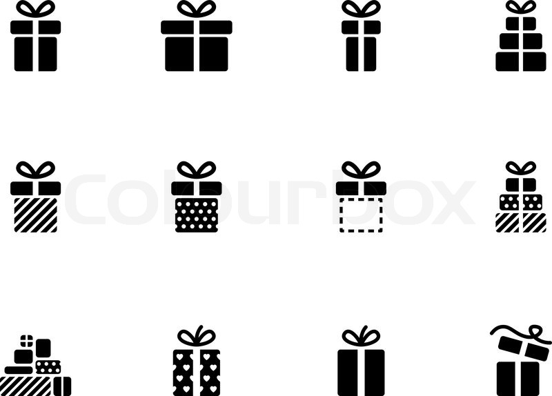 Gift box icons on white background vector illustration stock gift box icons on white background vector illustration vector negle Image collections