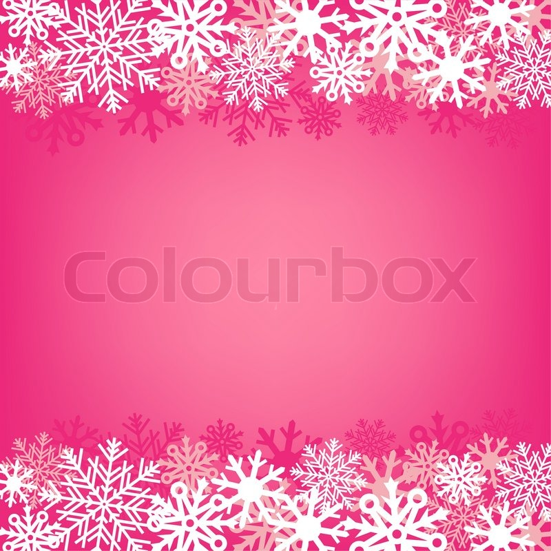 light pink snow background on a winter theme stock