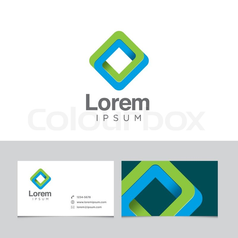 Logo design element with business card template stock vector logo design element with business card template stock vector colourbox reheart Gallery
